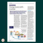 Doing more with nuclear, article in The Energy Institute's Energy World magazine